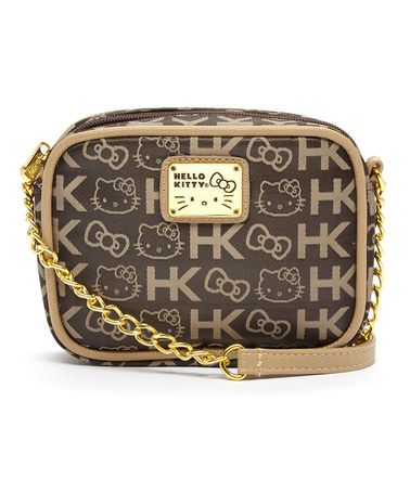 Loving this Brown Hello Kitty Partial-Chain Crossbody Bag on #zulily! #zulilyfinds