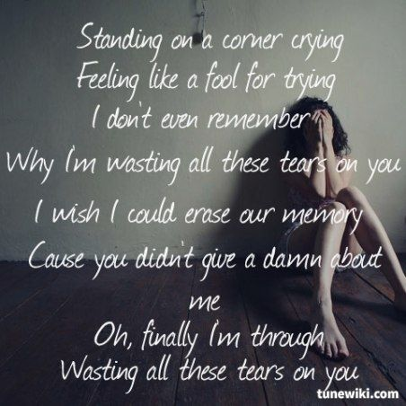 Wasting All These Tears ~ Cassadee Pope... Couldn't fit more perfectly to my life at the moment