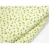 Хлопковая ткань светло-желтая в цветочек 150см*50см