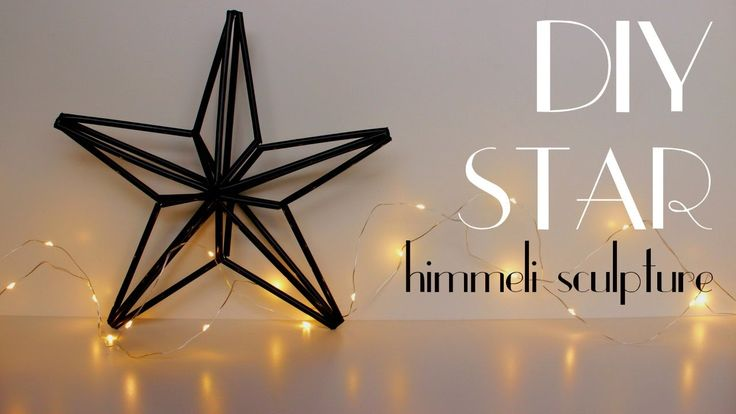 DIY - Star [Himmeli Geometric Sculpture] || Christmas