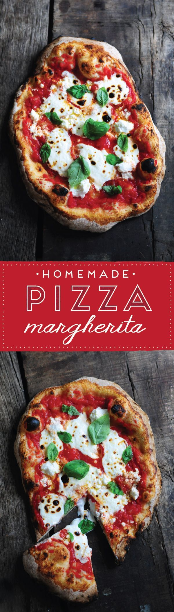 The classic pizza recipe from Naples, the Margherita Pizza. Using only fresh, simple ingredients (tomatoes, basil, fresh mozzarella) and a homemade dough recipe, this is one meal your family won't soon forget.