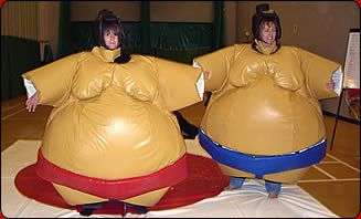 Does my bum look big in this? try a Sumo Wrestling Stag weekend !! http://www.stagsandhens.com/stag-weekends-sumo-wrestling.php