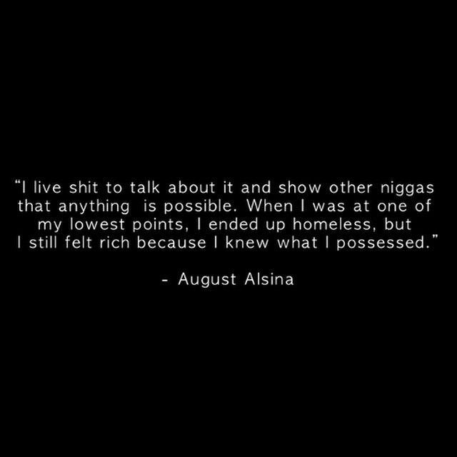 August Alsina Quote About Street Life In Picture: August Alsina Quote