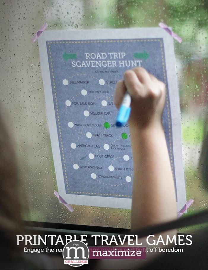 Two printable travel games: DRIVE bingo and a road trip scavenger hunt tough enough for tweens & teens!