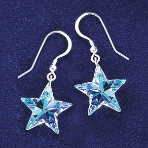 Aurora Star Crystal Earrings