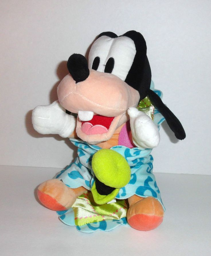 Disney Babies Goofy Baby Plush Doll With Security Blanket