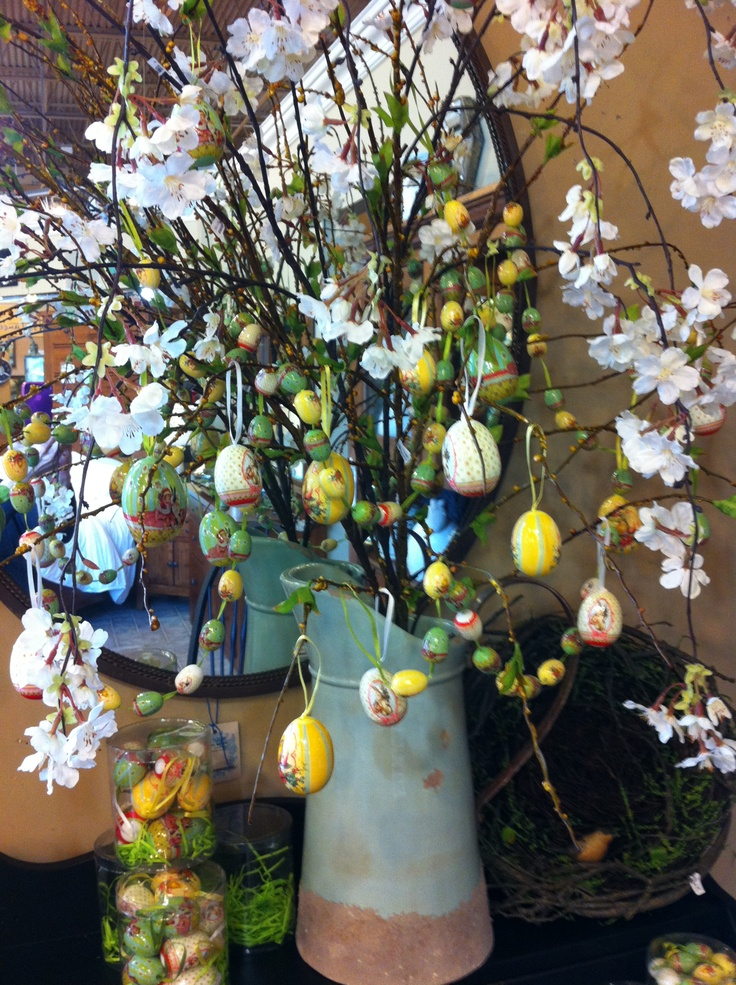 Spring Branches Heavy With Tiny Easter Eggs. Discovery Furniture, Topeka, KS