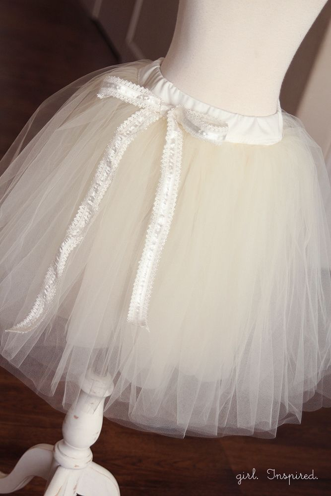 Tutu tutorial. This one has a soft lining and a knit waistband