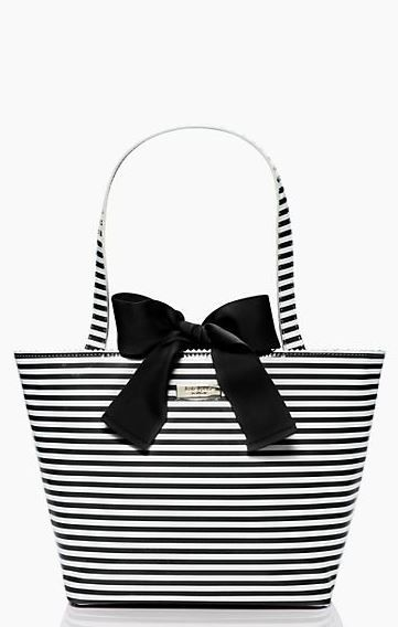 d9ad8c13b221 NWT Kate Spade Ocean Drive Stripe Tracey Ribbon Purse Tote Bag Pink   White  in Clothing