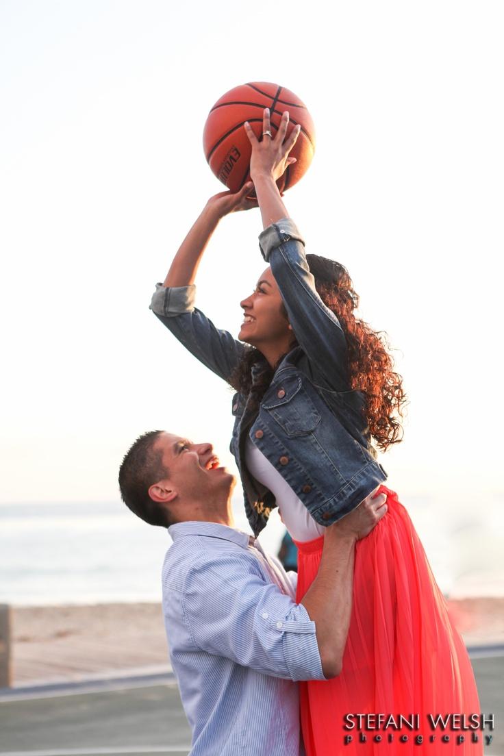 Basketball engagement session photo