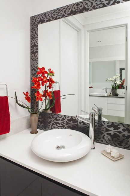 Vanity or powder room in this luxury home. #architecture #design #luxury home