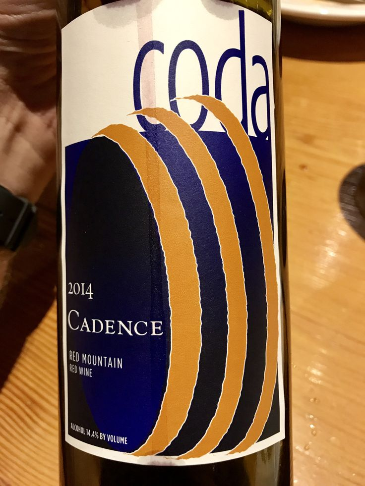 The 2014 Coda Red Blend by Seattle's Cadence Winery (38% Cabernet Sauvignon, 33% Cabernet Franc, 20% Merlot and 9% Petit Verdot) @Nel Centro, Portland, OR