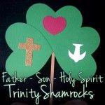 Father, Son, Holy Spirit Trinity Shamrocks (St. Patrick's Day Craft)