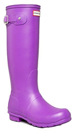 Hunter Original Tall Purple Wellies Rubber Rain Boots 6 ** Read more reviews of the product by visiting the link on the image.