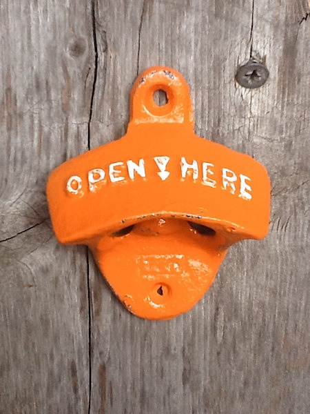Bright Orange Bottle Opener Bright Cast Iron Shabby Chic