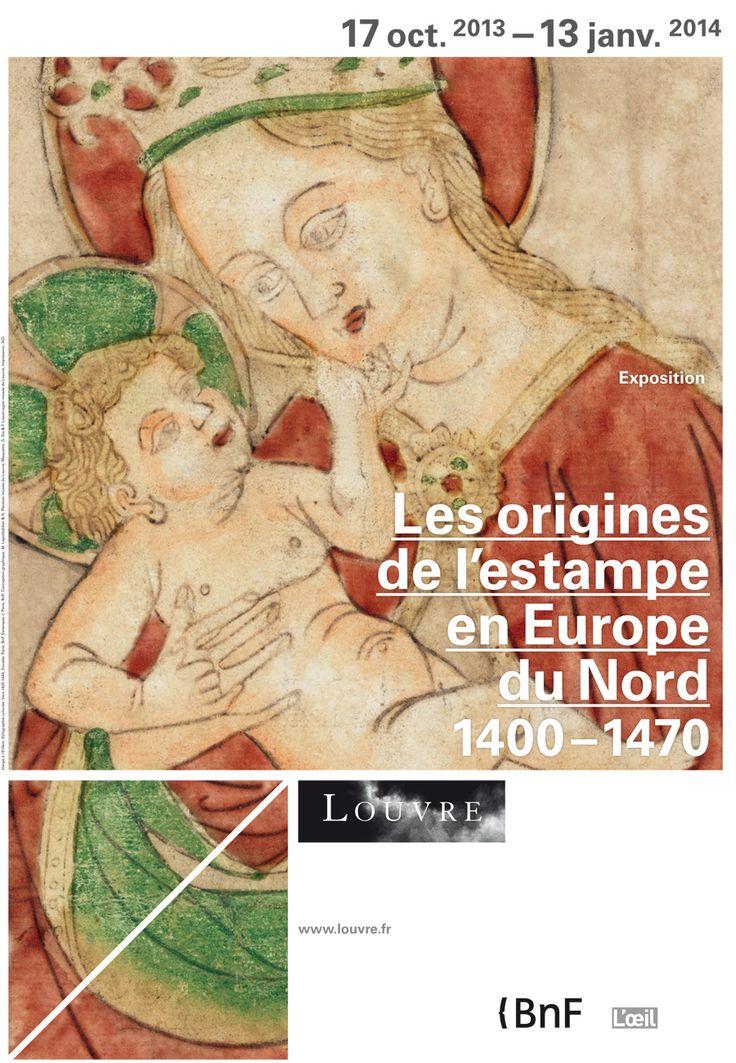 Les origines de l'estampe en Europe du Nord (1400-1470). L'apparition de l'estampe en Occident constitue un phénomène majeur de l'histoire et de l'histoire de l'art. A partir de 1400, artistes et graveurs expérimentèrent diverses techniques permettant par l'impression d'une matrice gravée et encrée sur un support de créer et de diffuser des images multipliables à l'identique. http://www.louvre.fr/expositions/les-origines-de-l-estampe-en-europe-du-nord-1400-1470