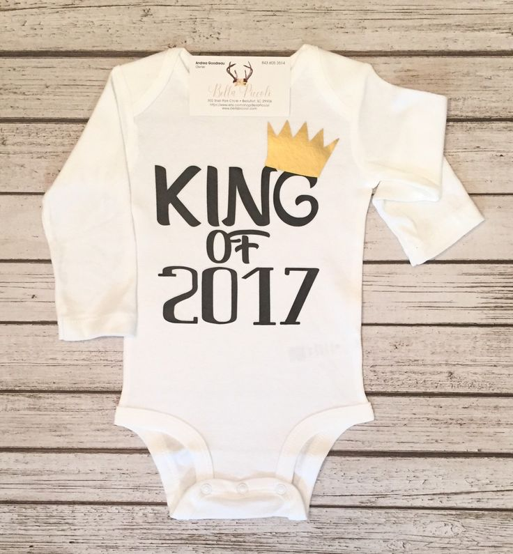 A personal favorite from my Etsy shop https://www.etsy.com/listing/487098694/baby-boy-new-years-bodysuit-new-years