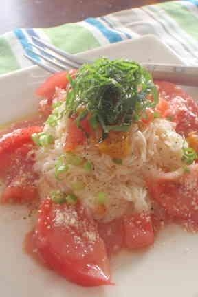 冷凍トマト*トリプルトマトのカペリーニ風の画像