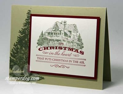 Stampin' Up! - Christmas Lodge - Heart of Christmas: Christmas Cards, Cards Ideas, Crafts Ideas, Christmas Crafts, Christmas Lodges Stampin Up, Cards Christmas, Christmas Ideas, Cards Stamps Papercraft, Stampin Up Christmas