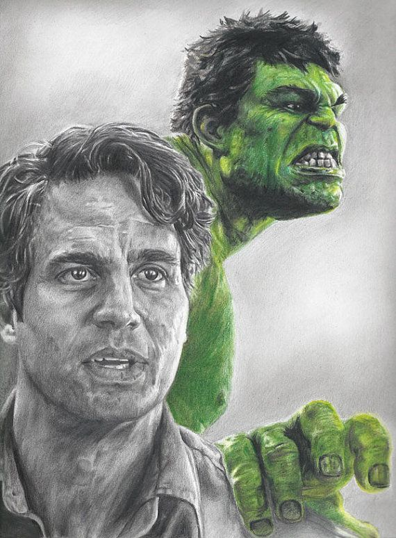 Drawing of Hulk / Bruce Banner Mark Ruffalo from by JohnDiBiaseArt, $12.00 its not old but it is cool