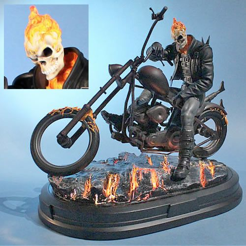 """Johnny Blaze sold his soul to Mephisto to save his mentor's life. In return, Blaze now rides through the Marvel Universe as the living Spirit of Vengeance, Ghost Rider! Inspired by the Ghost Rider """"Ro"""