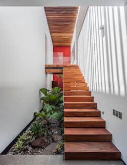 Jardines de estilo ecléctico por Almazan y Arquitectos Asociados