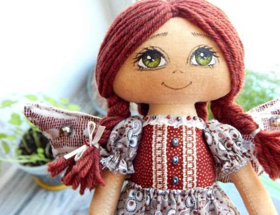 Hand-made Angel doll / Personalised doll / by Cloud9HomeMade