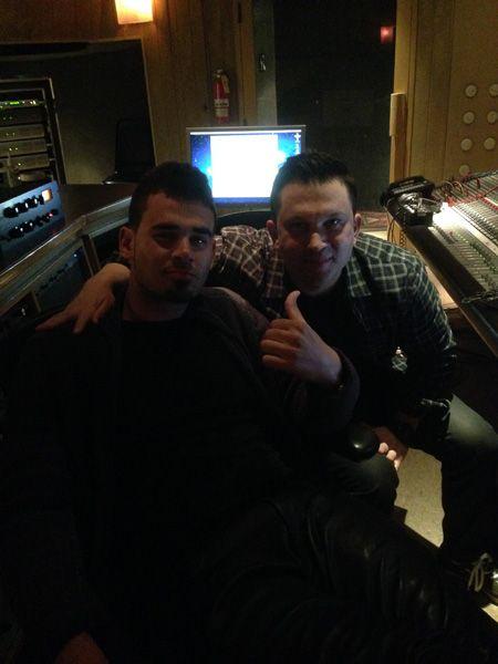 2.Jan. 9, LA:  Kicking it with Afrojack in the studio