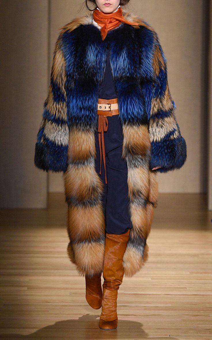 Intarsia Fur Coat by AGNONA for Preorder on Moda Operandi