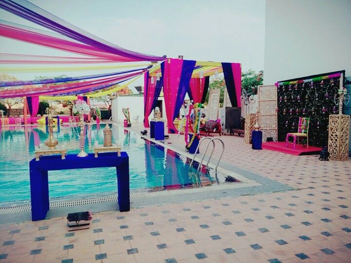 #poolside #mehndidecor  Celebells Events Pick a date. Leave the rest on us. www.celebells.com