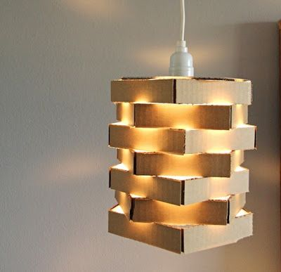 For DIY Thursday, We Are Featuring This DIY Cardboard Pendant Lamp. All You  Really Need Is Some Stray Cardboard Boxes And Glue!