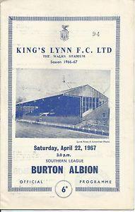 King's Lynn FC v Burton Albion, April 22, 1967