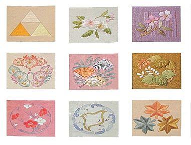 しゃれ紋(色糸刺繍)
