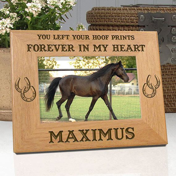 "Personalized Memorial Horse Frame ""You Left Your Hoof Prints Forever In My Heart"""