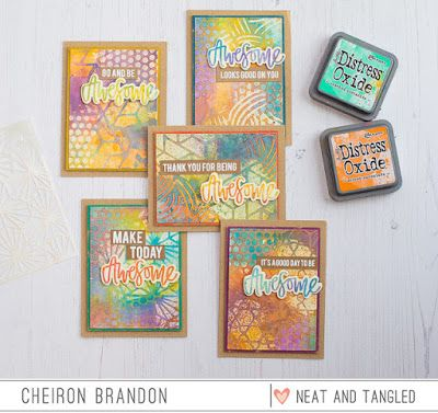 Awesome Distress Oxide Glazed Resist Card Set   Neat & Tangled   Bloglovin'