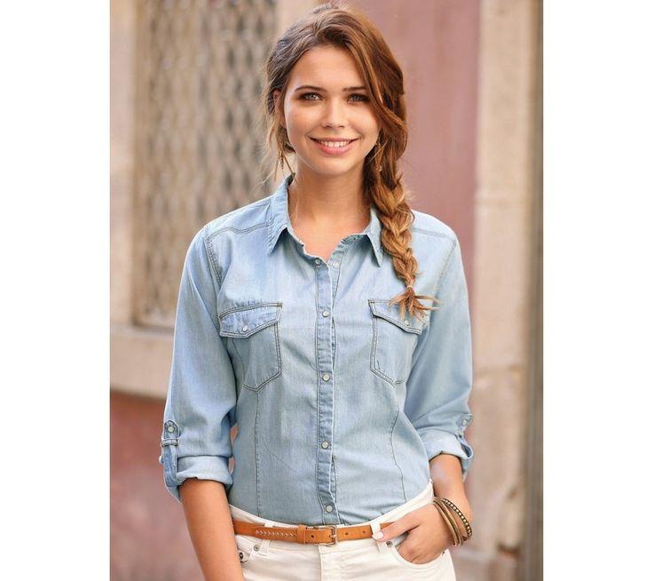 Džínová košile s dlouhými rukávy | modino.cz #ModinoCZ #modino_cz #modino_style #style #fashion #bestseller #shirt