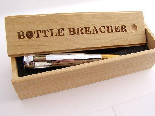 50 Caliber Chrome Bottle Openers with Wood Box. #BottleBreacher