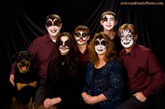 hahaha this makes me laugh because my mom loves Kiss...and would probably do this if she could get away with it!