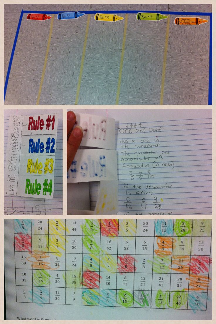 1000+ images about Fractions~~simplify on Pinterest | Bingo ...