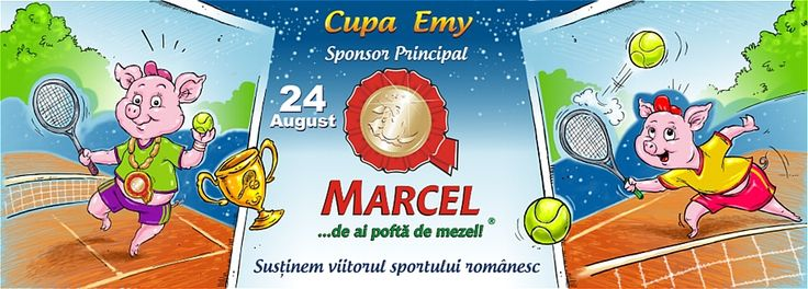 Outdoor Graphic Design & Illustration for Marcel Company - Banner for Emy Tennis Cup