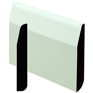Wickes Dual Purpose Primed MDF Large Round/Chamfered Skirting 14.4x94x2400mm Pack 5