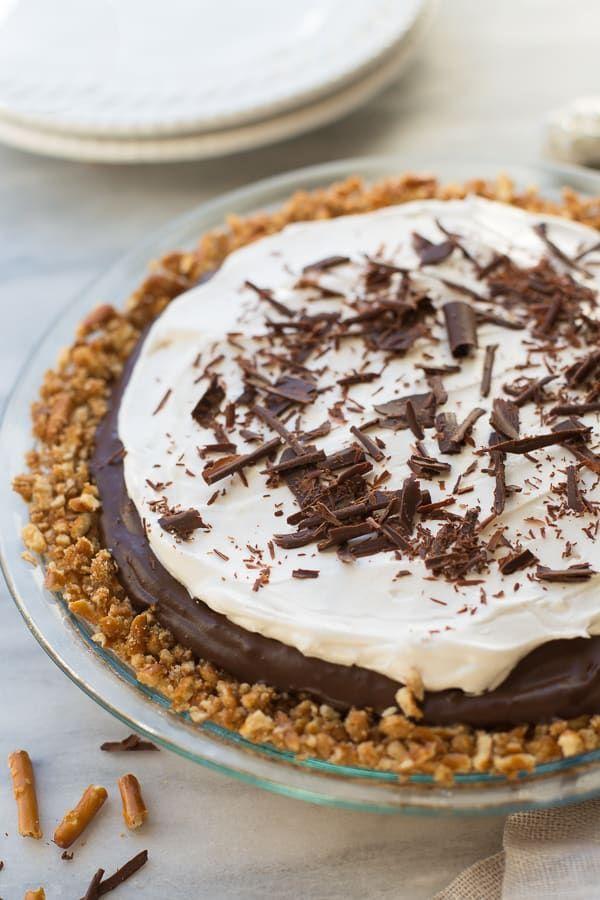 Gluten Free Vegan Chocolate Pudding Pretzel Pie Nobody Will Guess
