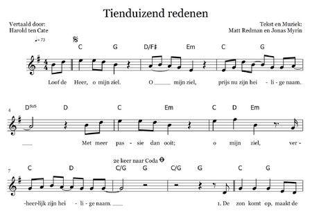 CIP.nl - Gratis bladmuziek 10.000 redenen