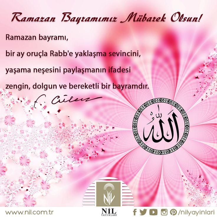 Hayır, bereket, huzur getirmesi duası ile..  Ramazan Bayramınız Mübarek Olsun…