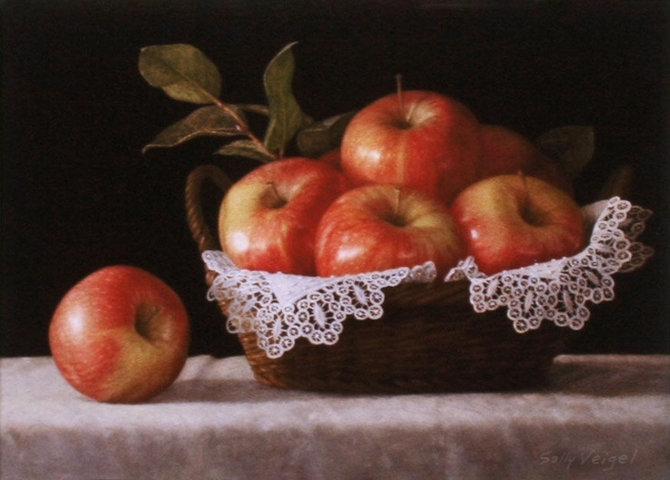 Apples and Lace Signed Giclee Print in 11x14 by sallyveigelstudio