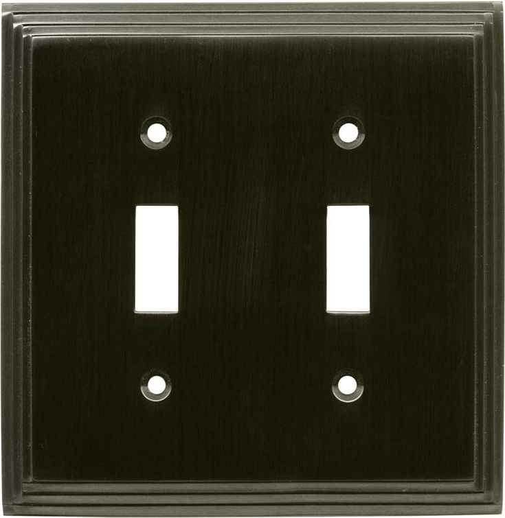 Art Deco Step Satin Black Nickel Switch Plates Outlet