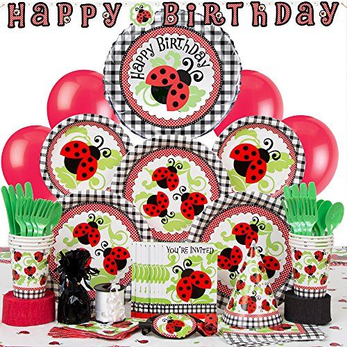 Deluxe Ladybug Party Supplies Kit for 8