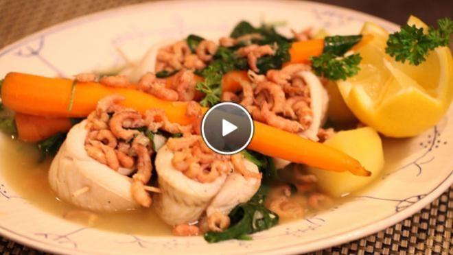 Scholfilet met garnalen - recept | 24Kitchen