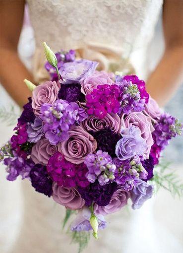 Фиолетовые букеты на свадьбу заказ цветов нолина