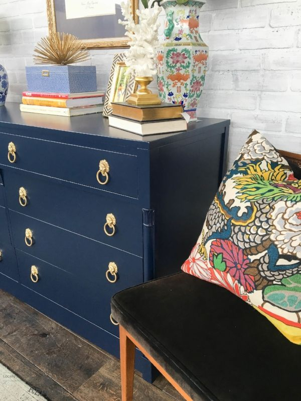 Traditional Navy Dresser Vintage Refined Furniture